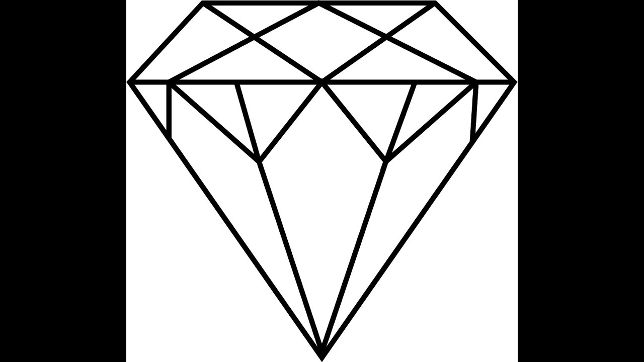 Line Drawing Diamond : How to draw a diamond youtube