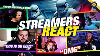 STREAMERS REACT TO THE STAR WARS EVENT! (Fortnite: Battle Royale)