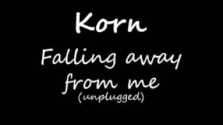 korn - falling away from me (unplugged)