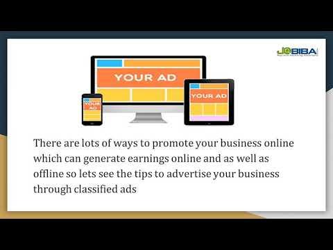 How to Advertíse Your Busíness Free Usíng onlíne free classífíeds