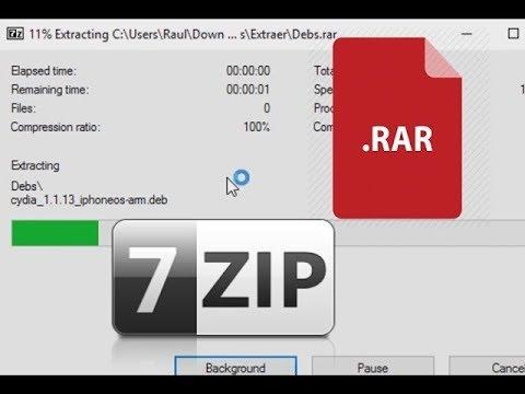 How to open (Unpack)  zip  rar files on Windows 10 2019
