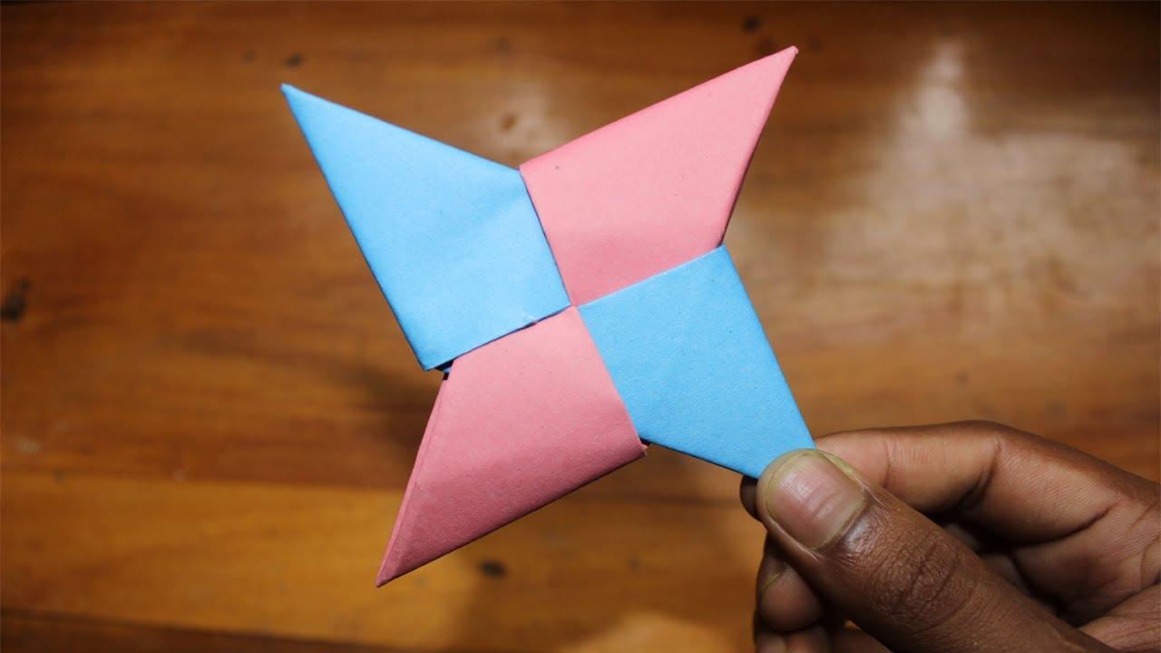 How To Make a Paper Ninja Star (Shuriken) - Origami - YouTube | 720x1280