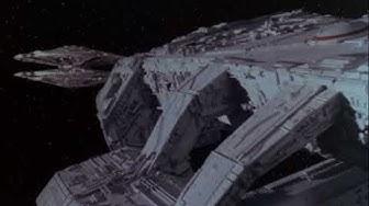 Kampfstern Galactica vs. Zylonen Basisstern
