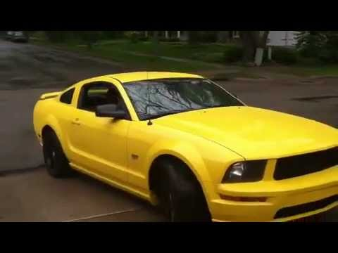 2006 ford mustang gt yellow youtube. Black Bedroom Furniture Sets. Home Design Ideas