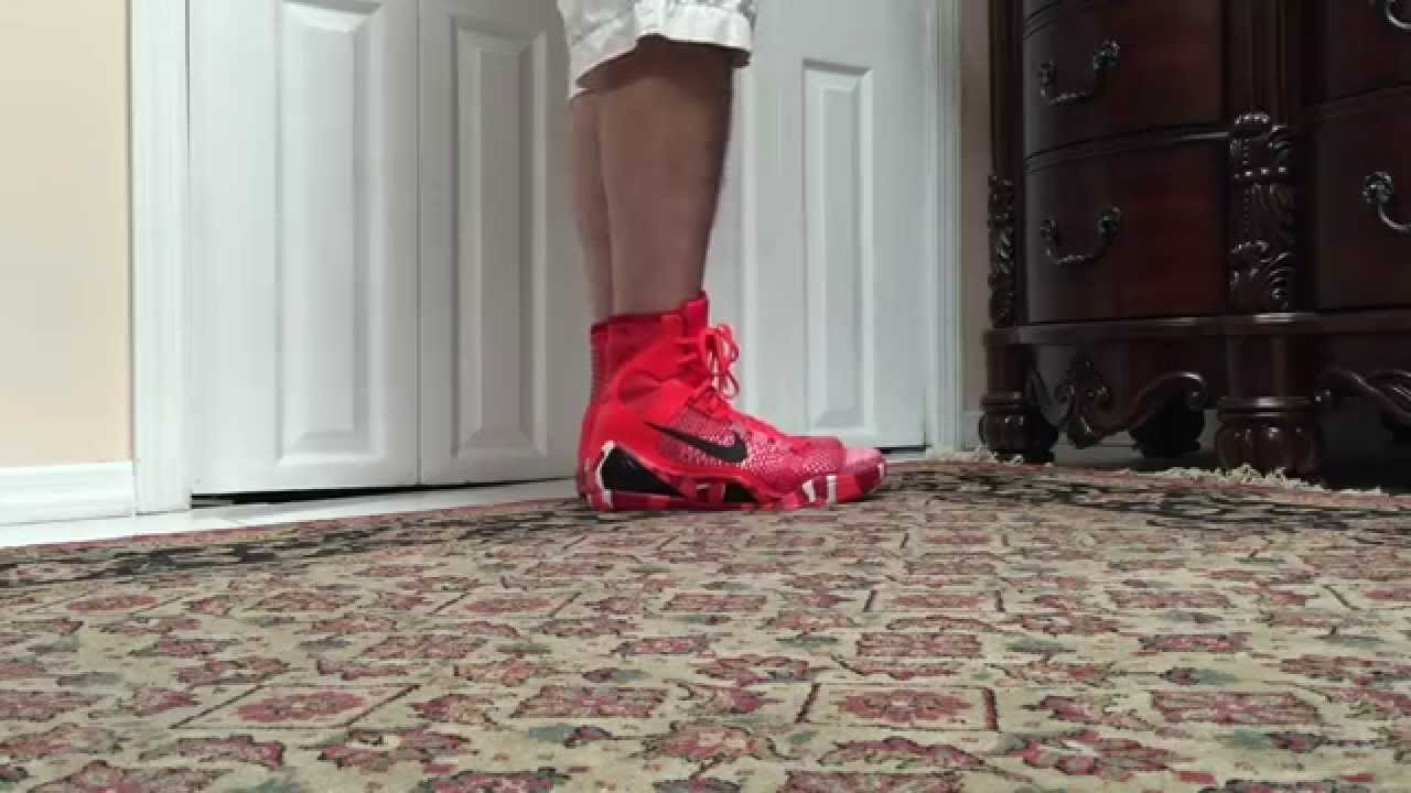 Nike Kobe 9 IX Elite Christmas On Foot - YouTube