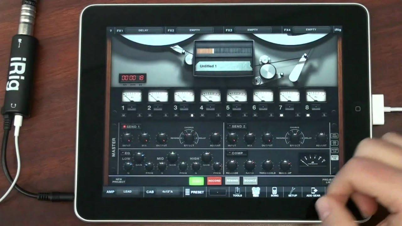 amplitube 2 for ipad and irig record a full song on your ipad rh youtube com iPad Mini User Manual New iPad User Manual