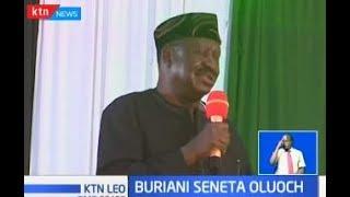 Seneta Oluoch azikwa nyumbani kwake Migori, Raila akihudhuria