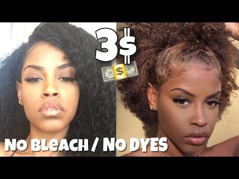 Black to Light Brown| NO Bleach NO Hair Dye for 3 DOLLARS