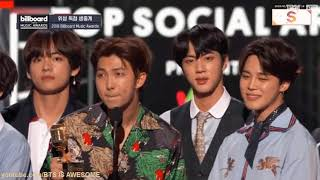 "BTS Wins ""Top Social Artist & Acceptance Speech @Billboard Music Awards 2018 - download lagu bts billboard music awards speech"