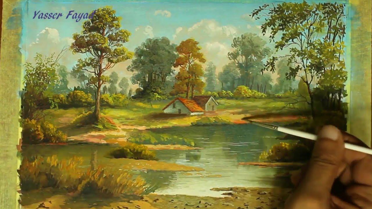 Vẽ tranh phong cảnh bằng màu nước | PENCIL ART