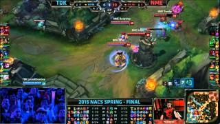 TDK (Kyle Lissandra) VS NME (Innox Katarina) Game 1 Highlights - 2015 NA CS Spring Final