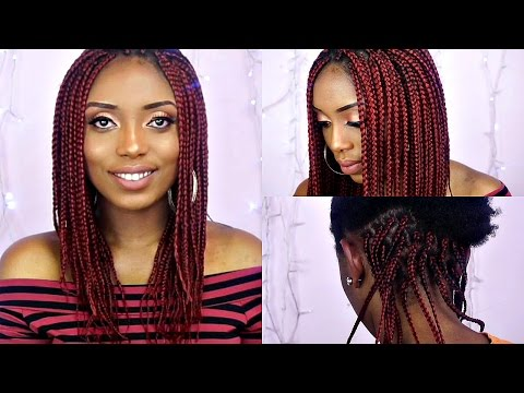 How To Box Braids Tutorial On Short Natural Hair