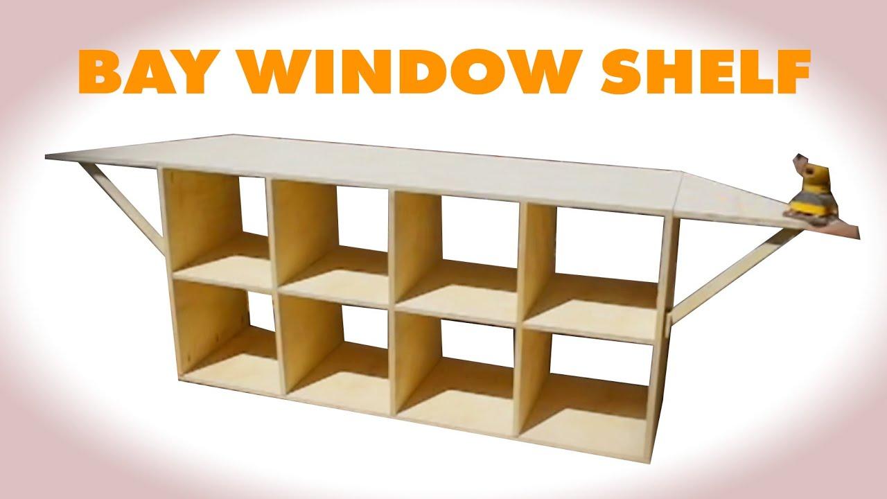 Diy Cube Shelf W Flip Up Wings Youtube