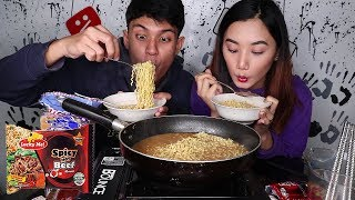 Lucky Me Instant Noodles Spicy Labuyo MUKBANG