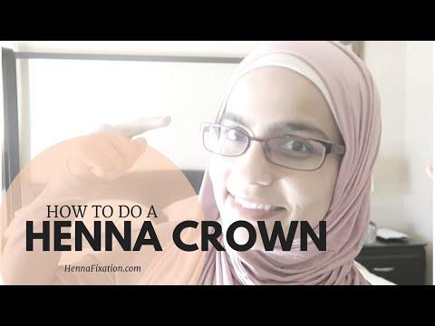 How to do a Henna Crown   Henna Fixation