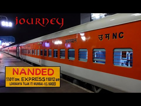 PUNE To NANDED : A Complete Journey of A Route Less Explored   11011 LTT-NED Express