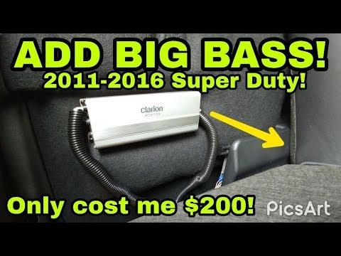 BIG BASS added to 2011-2016 Ford Super Duty, F250 F350 F450