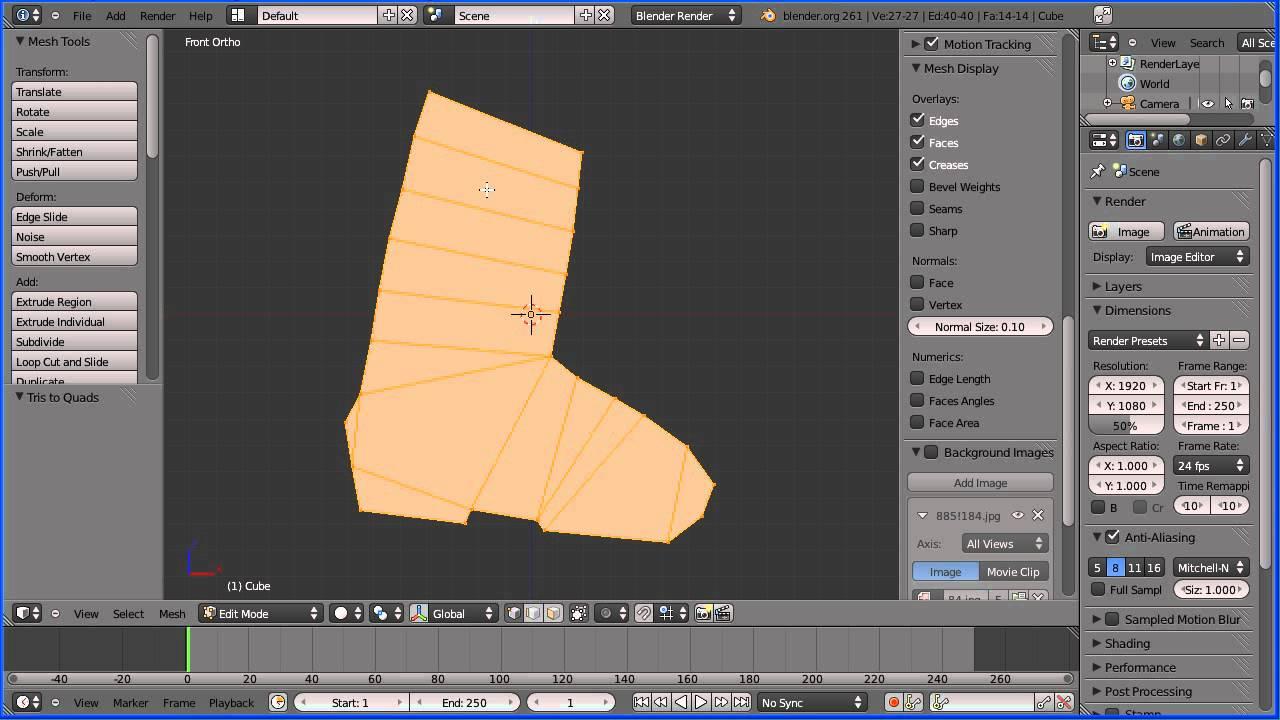Blender 2 6 Character Modeling Tutorial : Blender tutorial making a low poly model of