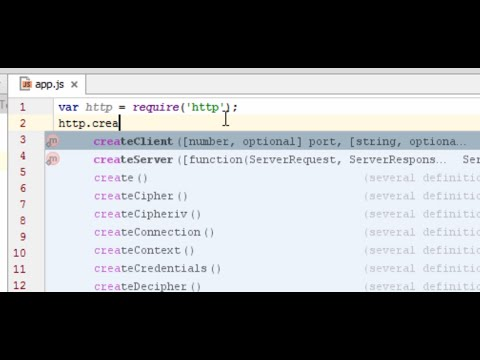 Setting up Code Completion for Node Intellij