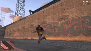 GTA 5 崔佛vs警察1到5星(影片剛開始還蠻好笑的XD)