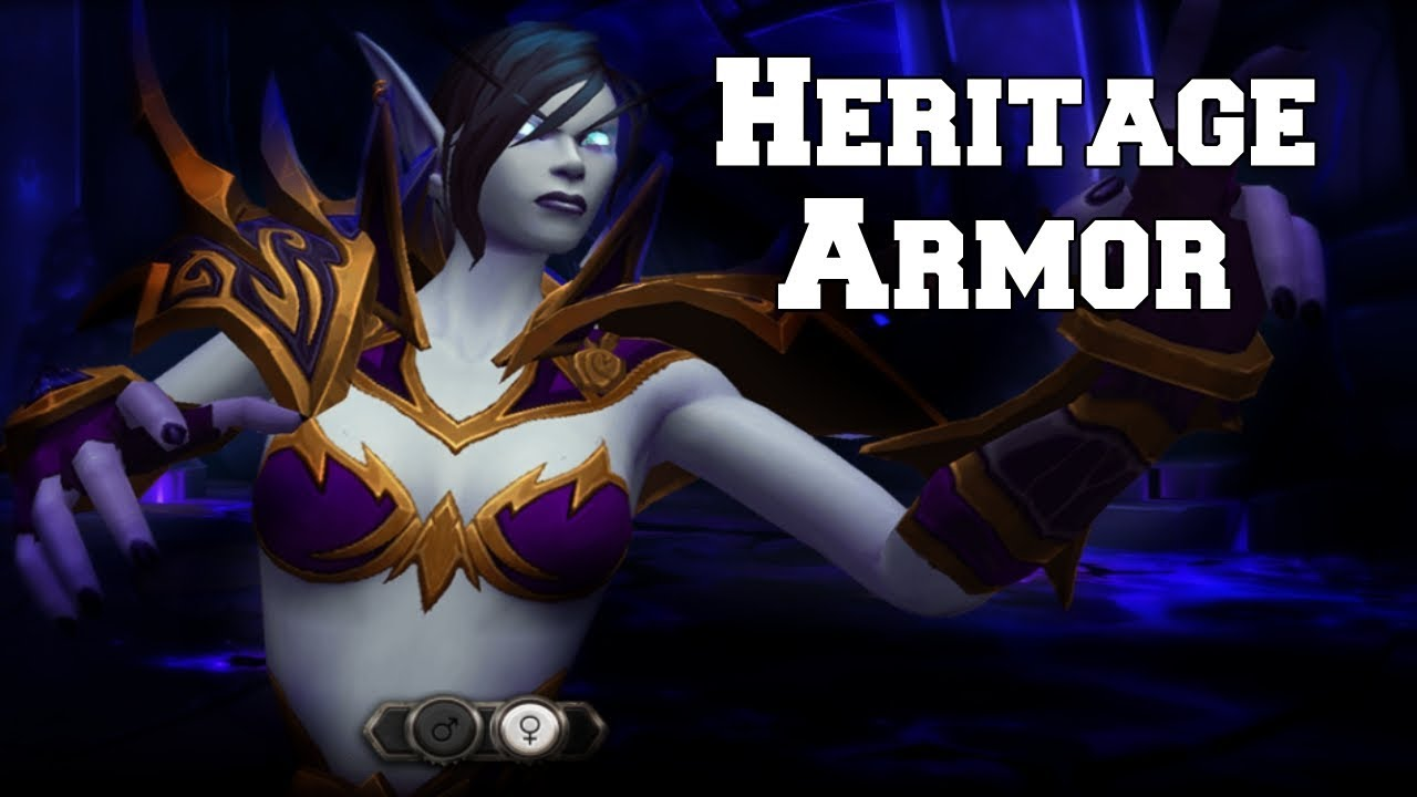 Void Elf Heritage Armor Wings – Void elves will switch into a void form in combat and have a more normal form when desired.