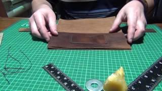 кожаный клатч-барсетка своими руками.   часть 2