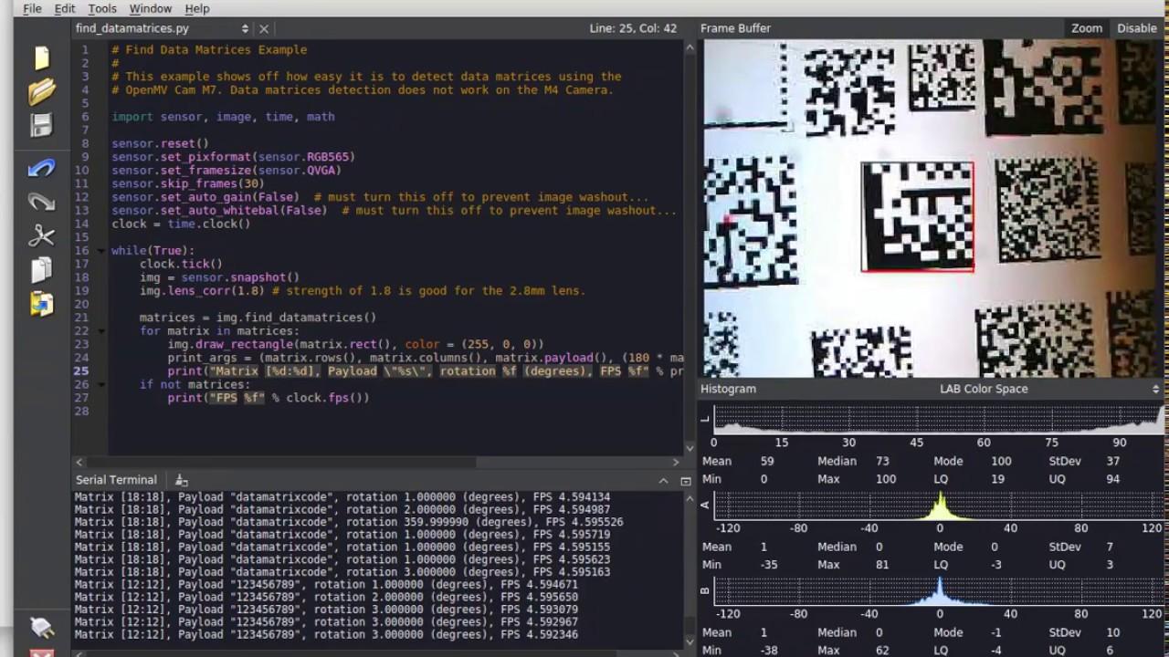 Data Matrix Detection w/ OpenMV Cam M7