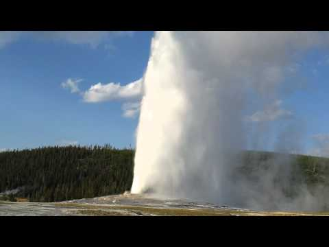 Eruption of Old Faithful Geyser, Yellowstone National Park, September 2011