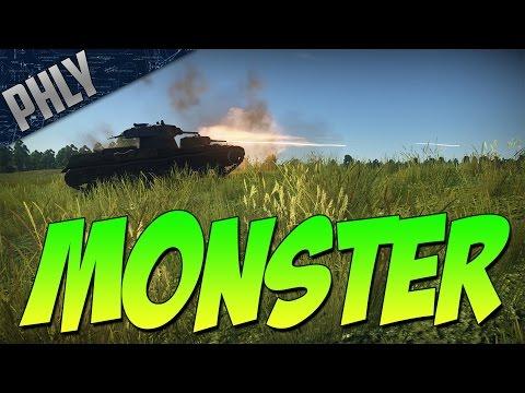 SMK MONSTER TANK  ft. Very useful back turret machine gun (War Thunder Tank Gameplay)