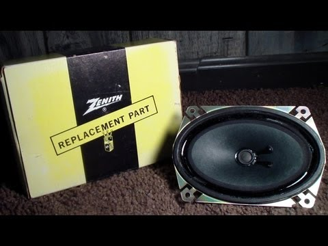 "New Old Stock Zenith Television Speaker. 4X6"" (Onkyo)"