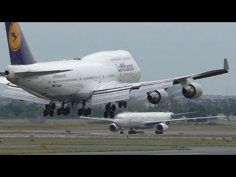 9 Heavy Arrivals on Runway 23 at Toronto Pearson International Airport ᴴᴰ