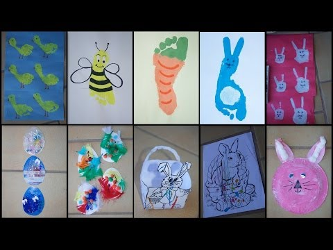 9 Easter Crafts For Toddlers Kids Youtube