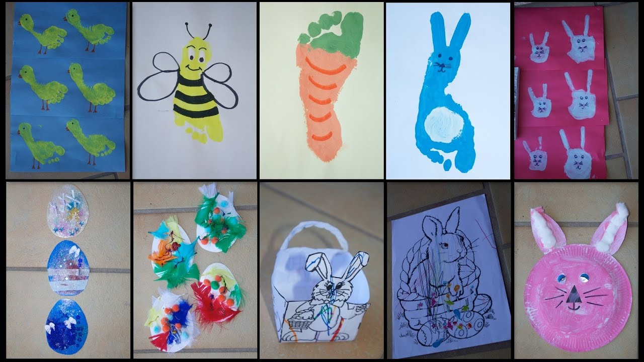 9 easter crafts for toddlers kids youtube negle Choice Image