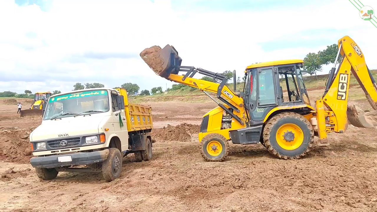 JCB 3DX Eco Excellence & Tata truck doing mud work |JCP | JCB | jcb | Come to Village