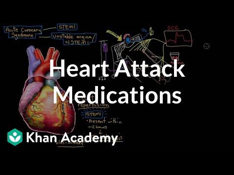 Heart attack (myocardial infarct) medications | NCLEX-RN | Khan Academy