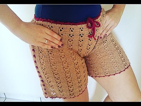 Shorts em Crochê Tamanho G