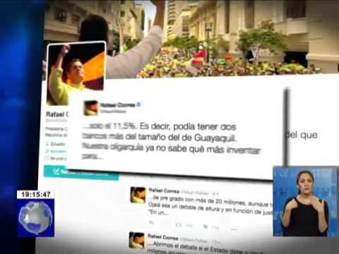 Presidente Rafael Correa criticó a Guillermo Lasso vía Twitter