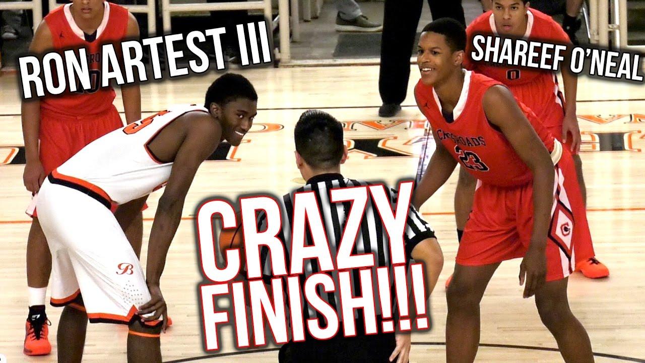 28e3aa9eaaf1 Shareef O Neal VS Ron Artest III PART 2  RON S REVENGE!