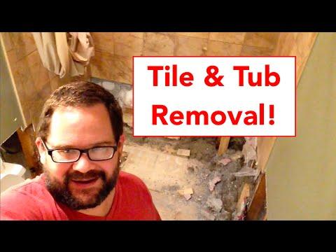 Tile and Bathtub Removal - Louisiana Flood 2016