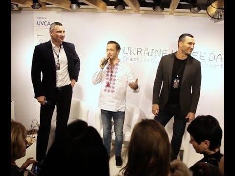 In Davos, Switzerland with the Klitschko brothers and Ukraine!