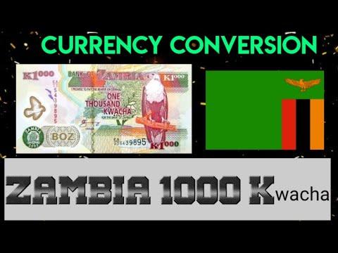 ZAMBIA 1000 Kwacha Note