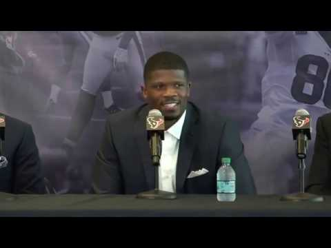 Houston Texans (NFL). Andre Johnson press conference. 2017 04 19