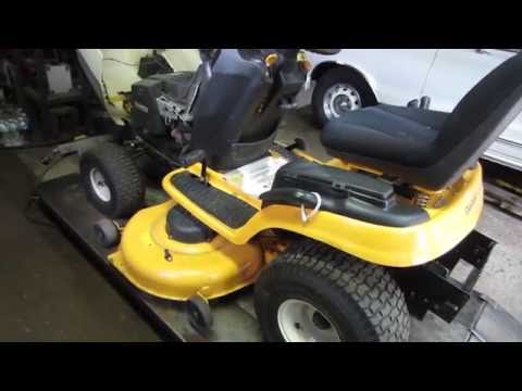 working on cub cadet tractor w/bad trans