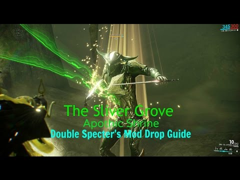 Warframe How To Get Double Mods From The Sliver Grove Apothic Shrine S Specter Solo By Ori Tellurium only drops from archwing missions, including uranus sealab and kuva fortress missions with (archwing) next to the mission. cyberspace and time