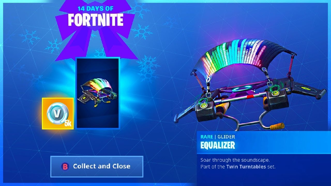 How To Get Equalizer Glider And Challenge Guide In 14 Days Of Fortnite
