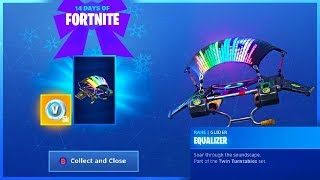 How To Get EQUALIZER GLIDER and CHALLENGE GUIDE in 14 Days Of Fortnite!
