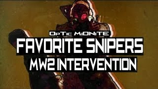 Favorite Snipers! MW2 Intervention Gameplay