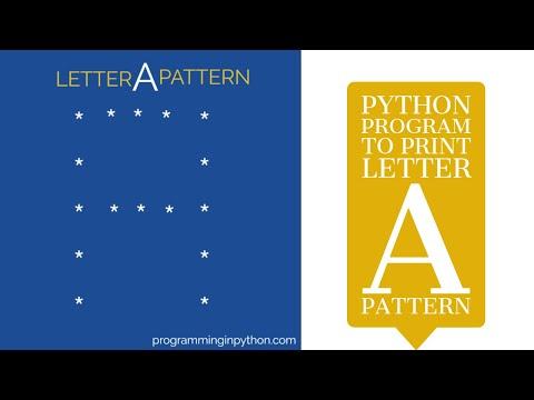 Print pattern 'A' in Python - Programming in Python