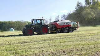 1 Schnitt 2020 Rundballenpressen mit Fendt Vario 722 und Pöttinger Impress 155 VC Pro