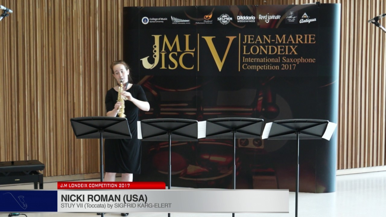 Londeix 2017 - Nicki Roman (USA) - VII Toccata by Sigfrid Karg Elert